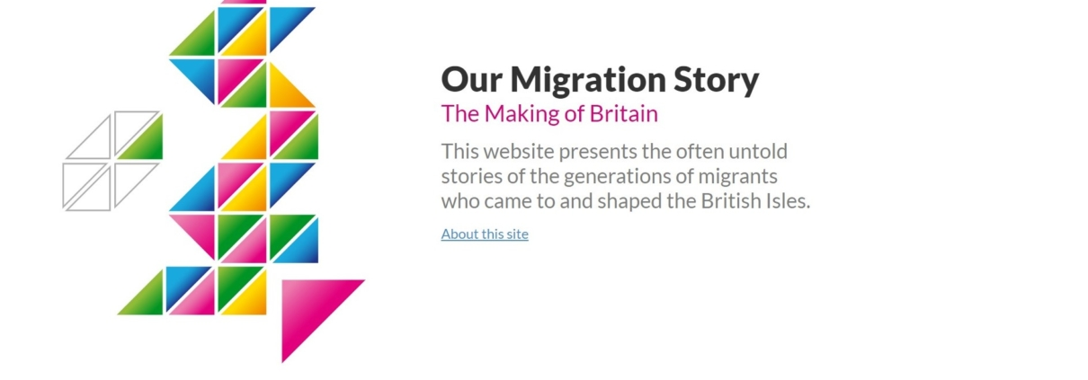 Homepage, Our Migration Story website